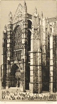 beauvais cathedral by herbert gordon warlow