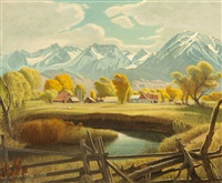 autumn, the old matlick ranch by robert clunie