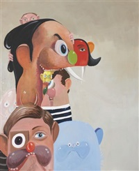 tumbling heads by george condo