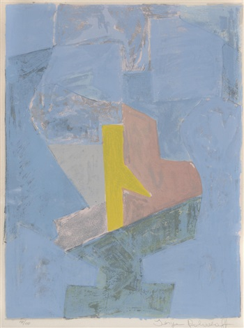 composition bleue jaune et rouge by serge poliakoff