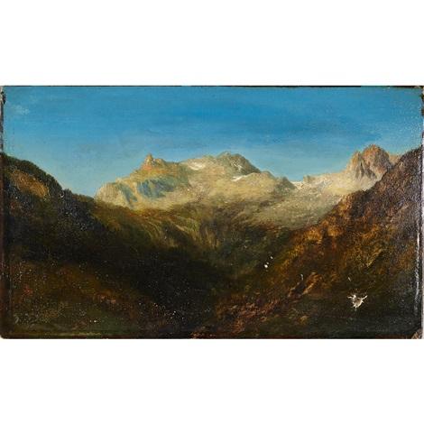 mount cervin zermatt swiss alps by théodore rousseau