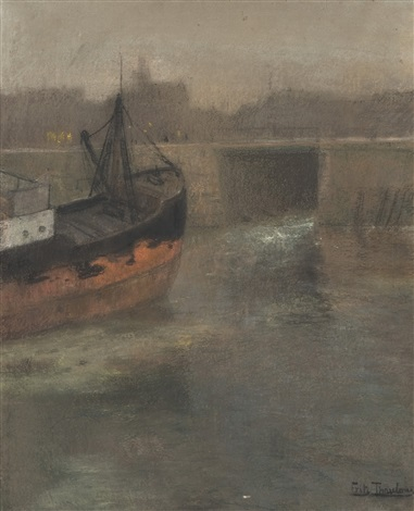 elvebåt by frits thaulow