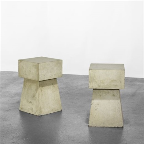 concrete tables set of 2 by scott burton