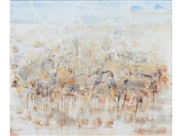 herd of antelope, sahara by gordon vorster