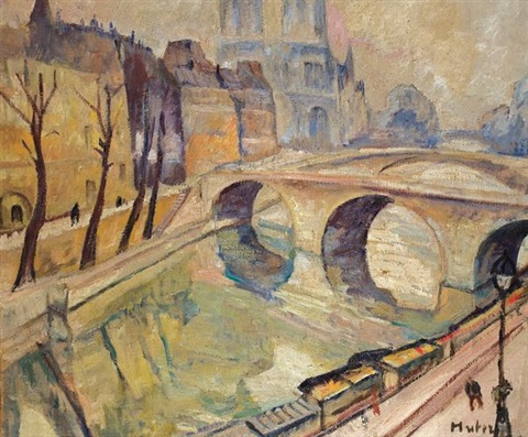 le pont st michel paris by maria mela muter