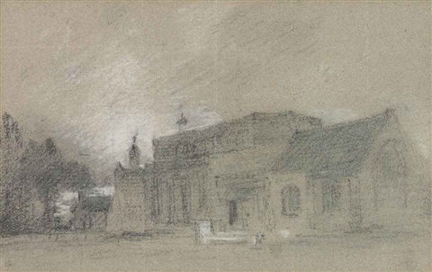 east bergholt church from the east by john constable