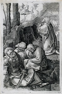 christus in gethsemane (after lucas van leyden, from der passion) by harmen jansz von müller