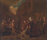 rauferei im wirtshaus by peter (petrus) snyers