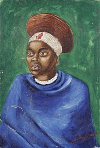 portrait of an african woman by stella shawzin