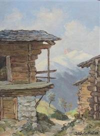 la terrasse du chalet en été by jos. g. muller
