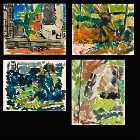 paysages 4 works by bernard dufour