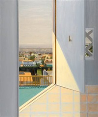 view of taft and franklin street through doorway by larry cohen