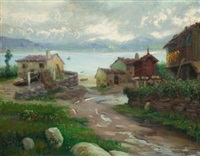 paisaje con órreos by manuel abelenda