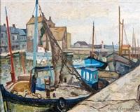bateaux à quai vieux bassin (honfleur) by franck innocent
