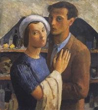 önarckép olgával (self portrait with olga) by endre hegedüs