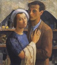 önarckép olgával (self portrait with olga) by endre hegedüs