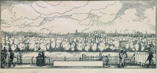 vue panoramique de la ville de nantes by jean emile laboureur