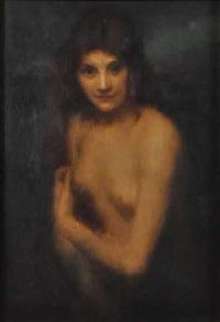 nu féminin en buste by louis picard