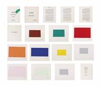 yves peintures (10 works) by yves klein