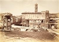 veduta del foro romano e del colle del campidoglio by james anderson