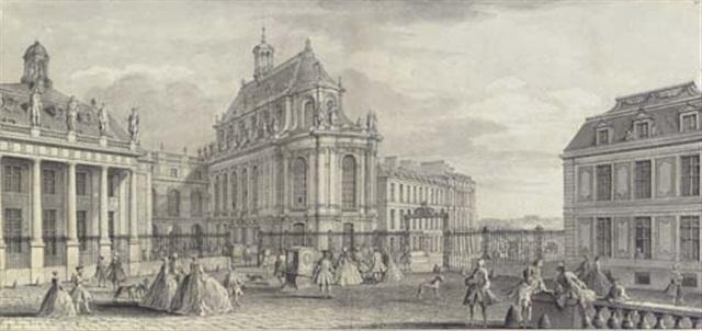 vue particulière de la chapelle du château de versailles by jacques rigaud