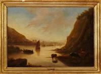 voiliers sur la rivière (attributed to van stry) by flemish school (19)