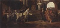 saints paul and barnabus at lystra by pieter lastman