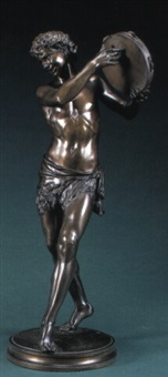 figure of a dancing faun by justin chrysotome sanson