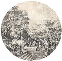 eleazar und rebecca am brunnen by hans bol