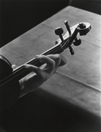 scroll of an amati violin by imogen cunningham