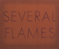 several flames by ed ruscha