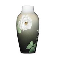 iris vase with roses by albert r. valentien
