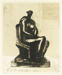 seated figure (c. 292) by henry moore