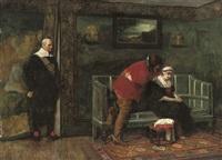 major ralph bridgenorth interrupts an encounter between his daughter alice and julian peveril by james dromgole linton