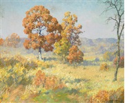 autumn oaks by maurice braun
