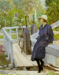Girl by a lock