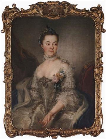 portrait of princess charlotte amalie wilhelmine von schleswig holstein sonderburg plön by stefano torelli