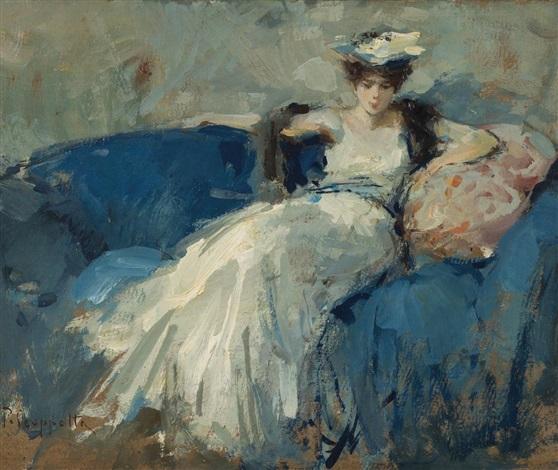 Dama sul divano by pietro scoppetta on artnet - Sesso sfrenato sul divano ...