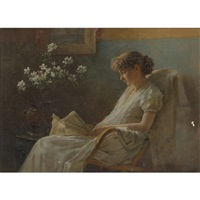 a comfortable corner by charles courtney curran