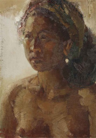 portrait of an indonesian girl by lee man fong