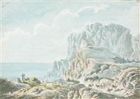 bergers et leurs troupeaux sur l'île de capri by claude louis châtelet