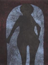 mujer en negro, from rufino tamayo 15 litografías by rufino tamayo