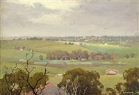 view over the valley by ernest william buckmaster