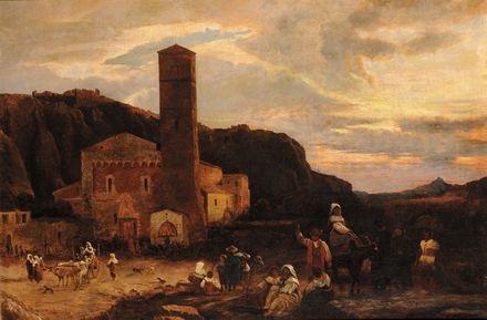 paesaggio by oswald achenbach