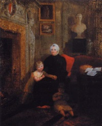 portrait of sarah tighe (ne fownes) and her two kelly grandchildren by maria spilsbury
