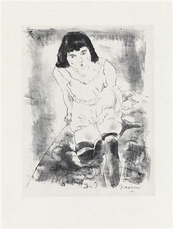 le lever from album des lithographies originales by jules pascin
