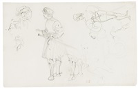 studies for figures in historical dress by eugène delacroix