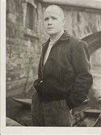 portrait de jean genet au bord de la seine, paris by roger parry