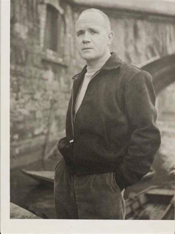 portrait de jean genet au bord de la seine paris by roger parry