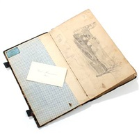 a sketchbook containing 30 drawings and the painters card by carl (jens erik c.) rasmussen